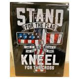 Metal Sign - STAND FOR THE FLAG
