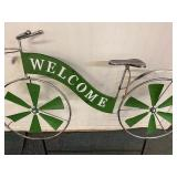 Metal Garden Decor Welcome Bicycle