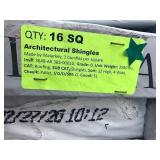 Architectural Shingles 16 sq Stone Gray