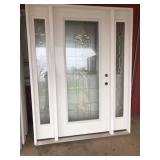 Decorative Entrance Door w/Sidelights 36x80 LH