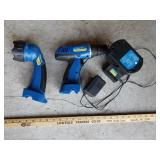 Battery Operated Drill and Flashlight