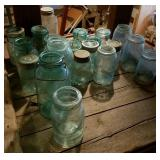 Assorted Glass Canning Jars