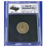 1913-D Buffalo Nickel AG-3 UGS