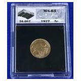 1927 Buffalo Nickel MS-63 UGS