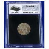1938-D/D Buffalo Nickel MS-65 UGS