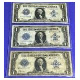 US Silver Certificate $1 1923 Series Large Notes