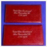 1976 US Bicentennial Silver Uncirculated Set