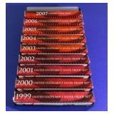 1998-2007 US Mint Silver Proof Sets