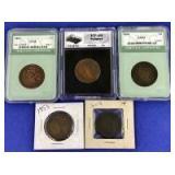 1851-1854 Braided Hair Large Cents