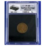 1909-S Indian Head Cent F-15 UGS