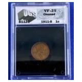 1911-S Indian Head Cent VF-25 UGS