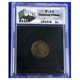 1914-D Lincoln Cent F-15 UGS