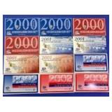 2000-2002 US Mint Coin Sets