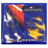 US Mint 50-Quarter & Euro Coin Collection