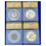 Brazil, Peru, Greece, Japan Coins