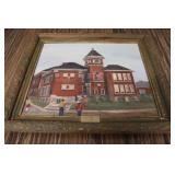 Spring Hill Original Schoolhouse Painting
