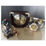 Clock, Phone, Decor, Waste Bins