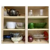 Teapot, Cake Plate, Glassware