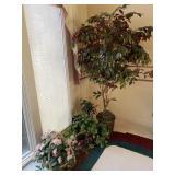 6 Foot Faux Ficus Tree, Silk Plants