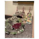 Hand-Painted Grape Glassware