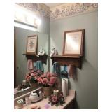 Pink Bath Decor, Towels, 2 Shelves