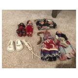 12 Miniature Ethnic Dolls