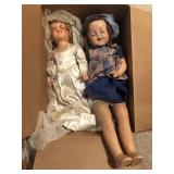 2 Vintage Composite Dolls