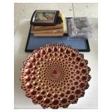 Silver/Glass Decorative Dish, Frames