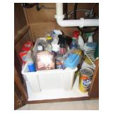Contents of Cabinet:  Cleaning Supplies
