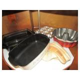 Baking Pans, Electric Cooker, Etc.