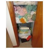 Contents of Closet:  Towels, Sheets, Etc.