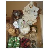 Lamp, Jewelry Boxes, Figurines, Vase, & Misc.