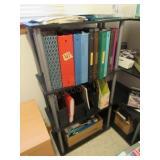 (2) Shelves & Contents:  Binders, Office