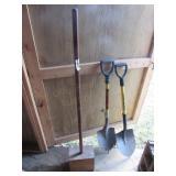 (2) Shovels, & Wooden Tamper