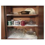 Assorted Drinking Glasses, Coffee Cups & Baking