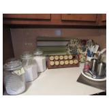 Spice Rack, Canisters, &