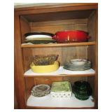 Assorted Dishes , & Misc. of Cabinet