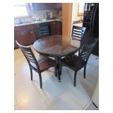 Round Dining Table w/(4) Chairs & Glass Top