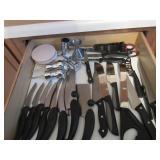 Kitchen Utensils, Knives, Misc.
