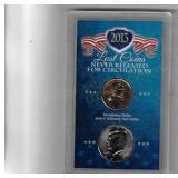 Uncirculated Sacagewea Dollar and Kennedy Half