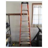 Werner 8ft Fiberglass Folding Ladder