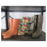 3 Pairs Rubber Boots