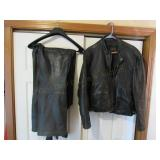 Leather Chaps and Jacket