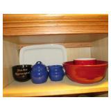 Stoneware Bowl and Mug - Sugar and Creamer- Mug