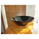 """Glazed Pottery Bowl 15""""x5 1/2"""""""