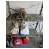Loose Contents Shelf-Coolers- Gas Cans- Rope