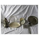 Platters- Silver Plate Tea Set Not Complete