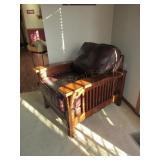 Semi Analine Flexsteel Craftsman Leather Chair