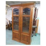 """2 Lighted Cabinets 76 5/8""""T x 23 1/4""""W, 46"""