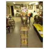 """Piano Lamp. Electrified. 47""""T to Shade Ring x 13"""